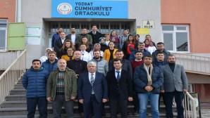 İl Milli Eğitim Müdürü Yazıcı Cumhuriyet Ortaokulunu ziyaret etti