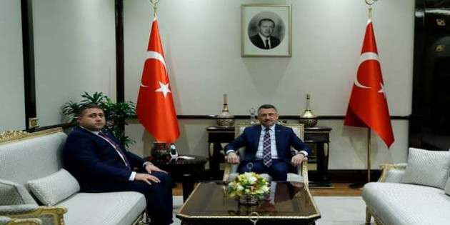 Sedef, Cumhurbaşkanı Yardımcısı Oktay'ı Külliye'de ziyaret etti