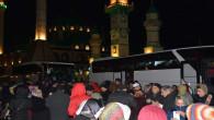 Umre yolcuları dualarla uğurlandı