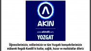 Akın Dil Eğitim Merkezi Yozgat halkının kandilini kutladı
