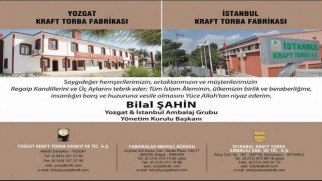 Yozgat ve İstanbul Kraft Torba Yönetim Kurulu Başkanı Şahin'den kandil mesajı