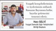 Selvi, Yozgat halkının bayramını kutladı