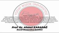 Bozok Üniversitesi Rektörü Karadağ, Yozgat halkının bayramını kutladı