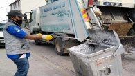 Sarıkaya'da çöp konteynerler dezenfekte edildi