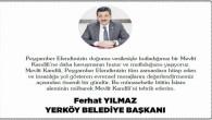 Yerköy Belediye Başkanı Ferhat Yılmaz'dan Mevlid Kandili mesajı