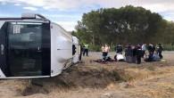 Yozgat'ta otobüs devrildi: 17 yaralı