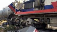 Yozgat'ta yük trenleri çapıştı makinistler yaralandı