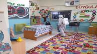 Yozgat'ta okullarda dezenfekte çalışması devam ediyor