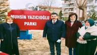Yerköy'de Muhsin Yazıcıoğlu Parkı açıldı
