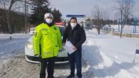 Kaza yapan polis adayını sınava Trafik polisleri yetiştirdi