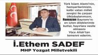 MHP Milletvekili Ethem Sedef Yozgat halkının bayramını kutladı