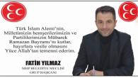 MHP Yozgat Belediyesi Meclis Grup Başkanı Yılmaz'dan Bayram mesajı