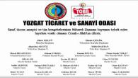 Yozgat TSO Başkanı Çelik ve Yönetiminden Bayram mesajı