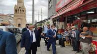 Sedef, Yerköy'de esnaf ve vatandaşları ziyaret etti