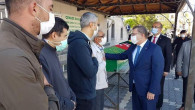 Vali Polat, Şehit babası Şahin'in cenazesine katıldı