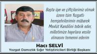 Hacı Selvi Yozgat halkının kandilini kutladı
