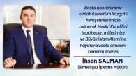 Sürmeligaz İşletme Müdürü Salman'dan kandil mesajı